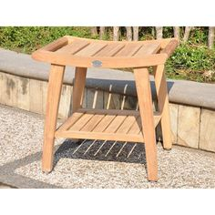 The Classic shower bench is made with grade A solid teak to stand up to humidity and damp weather conditions. This bench comes with a bottom shelf to keep shower necessities close at hand. Perfect for inside your shower or around the pool or spa.