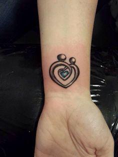 Mother daughter tattoo idea.