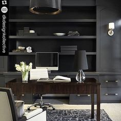 I adore the fact that the bookcases, books and lampshades are all painted to match. The impact is amazing with a strong definitive color used alone.  Hence, why it's even more reason to use the one step paint to paint books, lampshades and bookcases!  Gorgeous image shared by @dkdesignkollective!  #OneStepAway #PaintedFurniture #AmyHowardBoutique #AmyAtAce #RescueRestoreRedecorate