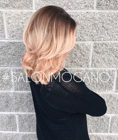 Rose gold done by Melissa and Victoria #rosegold #balayage #subtle…