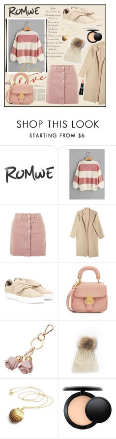 """""""Wide-Striped-Sweater"""" by sabina-mehic123 ❤ liked on Polyvore featuring Topshop, Mara Hoffman, Burberry, LC Lauren Conrad, MAC Cosmetics and Smashbox"""