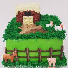 Little Square Farm Cake