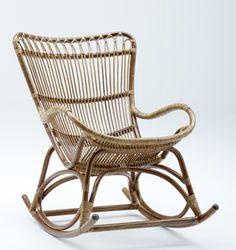 Rocking chair en rotin naturel Monet Sika Design