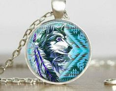 Indian Tibetan wolf pendant necklace
