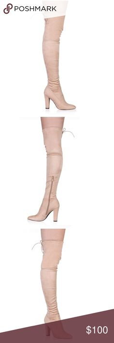 Over the Knee Boots It's like a Nude / Blush pink color combined. New! US 5 / UK 7 Shoes