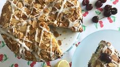If you're in the mood for some Bank Holiday baking, Anton has the perfect recipe for you. He's showing you how to score a 10 in the kitchen this weekend, with his 'cha cha' cherry bakewell cake. Cherry Bakewell Cake, Cherry Cake, Easy Chicken Tikka Masala, Afternoon Tea Cakes, Dessert Cake Recipes, Desserts, Chocolate Chip Banana Bread, Cake Servings, Banana Bread Recipes