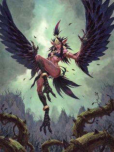 Dark Fantasy Art, Fantasy Rpg, Fantasy Girl, Fantasy Artwork, World Of Warcraft, Warcraft Art, Mythological Creatures, Mythical Creatures, Fantasy Character Design