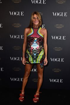 Anna Dello Russo en robe Dsquared2 soirée Vogue Paris http://www.vogue.fr/mode/inspirations/diaporama/la-soire-des-95-ans-de-vogue-paris/22911#anna-dello-russo-en-robe-dsquared2