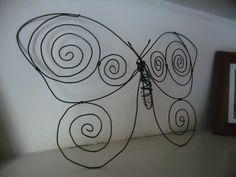 Mariposa alambre
