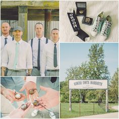 Ranch Wedding Groom and Groomsmen