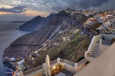 Dramatic view of Santorini