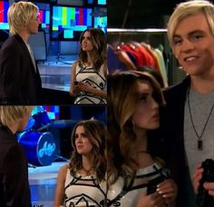Buzz cuts and Beginnings The Fearsome Twosome right there Leo Howard, Austin Moon, Laura Marano, Austin And Ally, Birthday Boy Shirts, Disney Shows, Disney Couples, Ross Lynch, Disney Memes