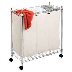 need this 3 part sorter for the new laundry room. no more ruining my clothes Laundry Sorter, Household, Laundry Room Organization, Household Essentials, Small Closet Redo, Whitmor, Bedroom Items, Laundry, Storage
