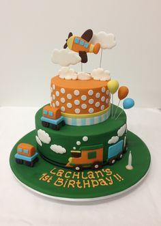 Cute cake for a little boy..