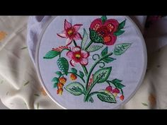 Hand embroidery designs. Hand embroidery stitches tutorial. Diseño de bordado a mano - YouTube