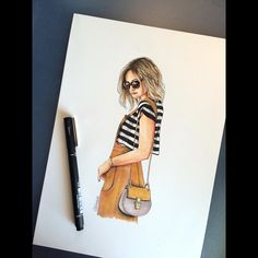https://www.etsy.com/shop/LOOKillustrated Alina Girdhar(LOOKillustrated) (@aliniwe) • Fashion illustration, fashion sketch, street style, street fashion