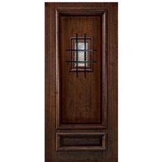 Two Panel V Groove Florentine Speakeasy Front Door