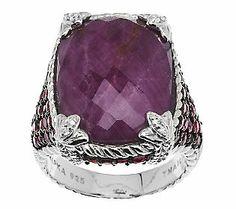 Judith Ripka Sterling 1.85ct Gemstone Monaco Ruby Ring