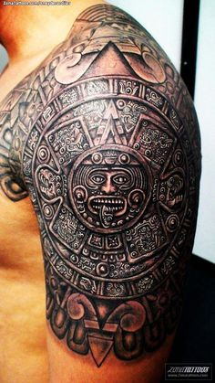 33 Aztec Half Sleeve Tattoos 15 aztec tattoo designs and 125 tribal tattoos for men with meanings & tips wild image detail for aztec tattoos o d tattoodonkey mexican st. Trendy Tattoos, Tattoos For Guys, Cool Tattoos, Tatoos, Ship Tattoos, Latest Tattoos, Awesome Tattoos, Aztec Tattoos Sleeve, Tribal Shoulder Tattoos