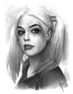 Part of a range of studies I'm doing of Harley Quinn (Margot Robbie) to prepare for my own version of her for my next Patreon release. This took around 3 hours from photo ref. Harley Quinn Tattoo, Harley Quinn Drawing, Joker Und Harley, Joker And Harley Quinn, Harley Quenn, Image Film, Margot Robbie, Gotham, Art Sketches