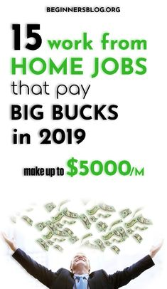 15 work from home jobs that pay big bucks in 2019 【Make up to $5000 per month】. #workfromhomejobs #makemoneyonline #homejobs #homebusiness #makemoremoney #extraincomeideas #workfromhome #momjobs How To Get Money, Make Money From Home, Make Money Online, Online Jobs For Moms, Investing In Cryptocurrency, General Knowledge Facts, Find Work, Work From Home Jobs, Extra Money