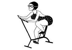 Aqua Biking : GIF animé de Laurène Boglio