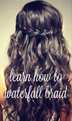 Learn how to waterfall braid