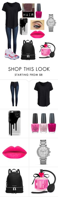 """""""Saturday"""" by amarianamichelle ❤ liked on Polyvore featuring New Look, Casetify, OPI, MICHAEL Michael Kors, Victoria's Secret and saturday"""