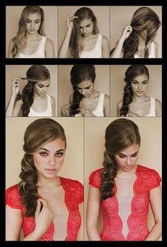 Romantic one sided hair style- Bridesmaid Hair