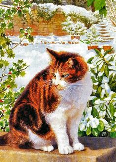 Christmas cat by Chrissie Snelling