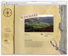 County Kerry Website by Kady Lawson, via Behance - Web Design - Click for screencast and more process