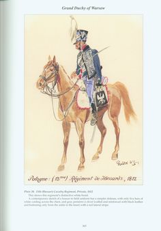 Grand Duchy of Warsaw: Plate 20. 13th (Hussar) Cavalry Regiment, Private, 1812.