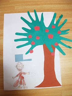 Preschool Crafts for Kids*: Johnny Appleseed Apple Tree Craft