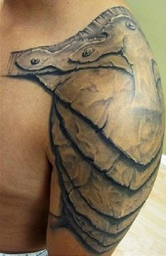 """Armor Tattoo For Men Amazing Armour Idea BADASS"". Not for me, but so much respect for this"
