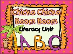"""This unit is a perfect companion to the book, """"Chicka Chicka Boom Boom."""" Activities included are:Uppercase/Lowercase/Beginning Sound MatchPlay-Doh MatsFill in the missing letters (uppercase and lowercase versions_Race to Trace (trace letters)"""