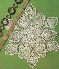PDF Doily Crochet Pattern : Doily Mat . Place Mat . Table Centre . Round Doiley . Mandala . Circular . Doillies . Instant Digital Download by PDFKnittingCrochet on Etsy