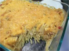 Pioneer Woman's chicken spaghetti **delicious and so easy. Would add a little more bell pepper, salt, and pepper next time