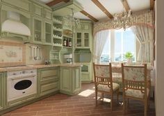 Classic Style Kitchen Furniture Timeless Furniture For Your Home Shabby Chic Kitchen, Country Kitchen, Country Farmhouse, Kitchen Furniture, Kitchen Decor, Kitchen Ideas, Mint Kitchen, Rustic Home Interiors, Provence Style