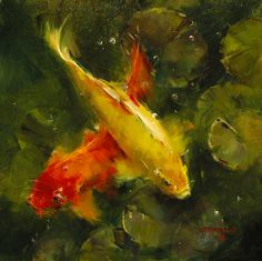 Visit the post for more. Koi Fish Pond, Fish Ponds, Koi Painting, Photos Of Fish, Koi Fish Tattoo, Painting Competition, Water Reflections, Online Painting, Fish Art