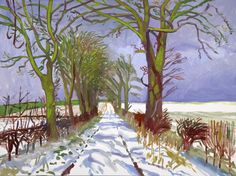 Winter Tunnel with Snow, March, by David Hockney (2006)