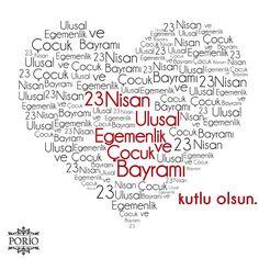 23 Nisan Ulusal Egemenlik ve Çocuk Bayramı kutlu olsun.... #porio #poriohome #23 #nisan #ulusal #egemenlik #ve #çocuk #bayramı #23nisan #23nisankutluolsun #23nisanulusalegemenlikveçocukbayramı #ataturk #atatürk International Children's Day, Daily Mood, Anime Love, Motto, Diy And Crafts, Preschool, Typography, Messages, Education
