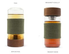 Magnetic Tea Infusers - Imbune's Tea Travel Mug Uses Magnets to Brew Loose Leaf Tea (GALLERY)
