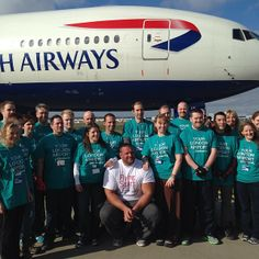 Team Gatwick ready to compete in the aircraft pull for Sport Relief. #lgwmobilereporter #lgwlive #gatwick