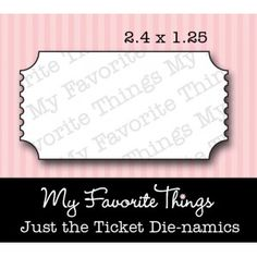 mft Die-namics Just the Ticket DIE ONLY