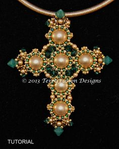 Cross Tutorial St. Joan of Lorraine Pendant von TheBeadnikDivas, $20.00