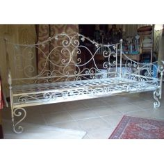 Wrought iron sofa bed. Customize Realizations. 931 Outdoor Furniture, Outdoor Decor, Sofa Bed, Vintage Decor, Wrought Iron, Entryway Tables, Decorating, Home Decor, Environment