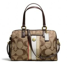 'BNWT F25526 Coach Multistripe Satchel' is going up for auction at  3pm Sun, Nov 24 with a starting bid of $1.