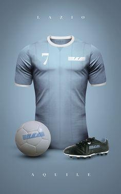 Vintage Clubs II on Behance - Emilio Sansolini - Graphic Design Poster - Celta de Vigo - Celeste Soccer Kits, Football Kits, Football Jerseys, Camisa Retro, Camisa Vintage, Vintage Football Shirts, Vintage Shirts, Retro Shirts, Ss Lazio