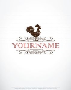 Exclusive Design: Rooster Logo + Compatible FREE Business Card ...