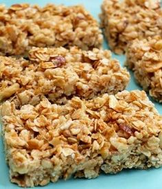 Crispy Honey Nut Granola Bars - these are GREAT! Kids and hubs love them and they taste good crumbled up like cereal with milk too - no need to ever buy granola or granola bars ever! Ic Recipes, Healthy Recipes, Whole Food Recipes, Healthy Snacks, Protein Bar Recipes, Honey Recipes, Cereal Recipes, Protein Snacks, Healthy Breakfasts